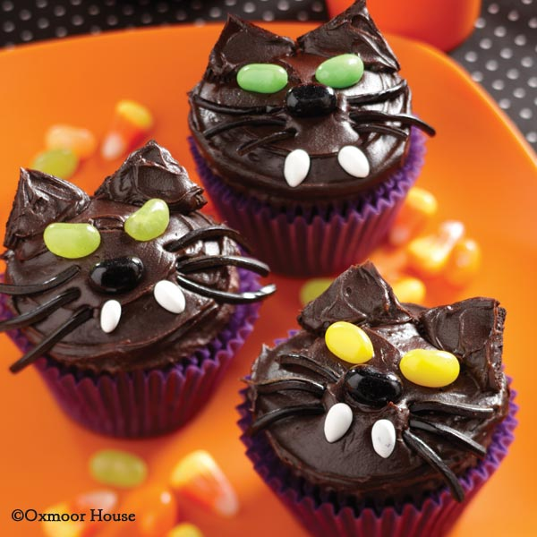 Gooseberry Patch Recipes Black Kitty Cat Cupcakes From A Ghastly
